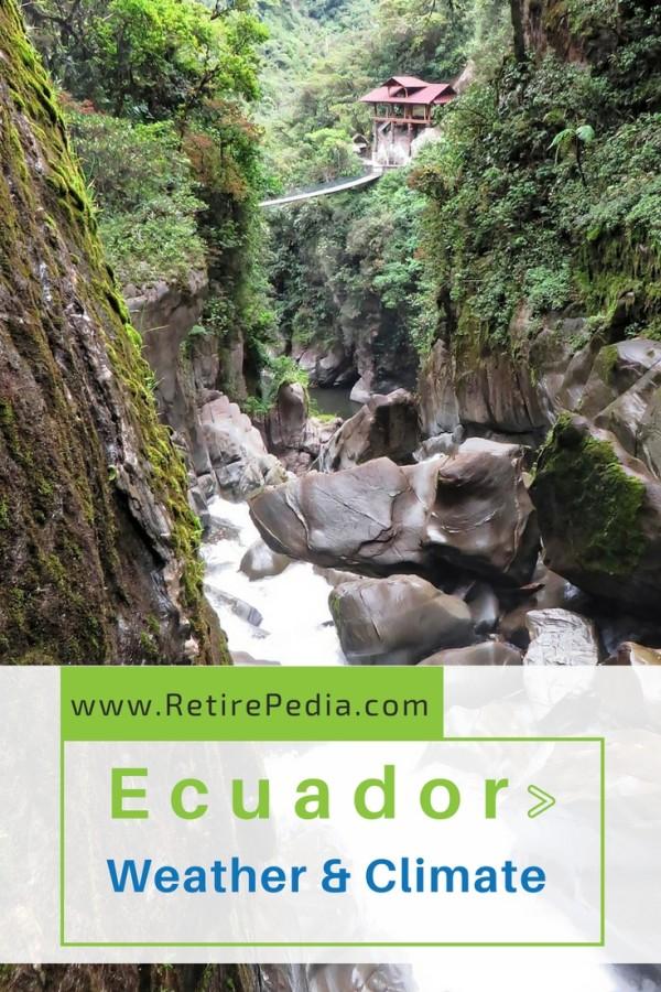 Gorge in the Andean mountains, Ecuador.