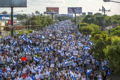 Protest March in Managua, Nicaragua; April 2018