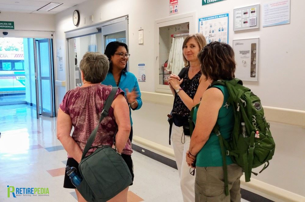 Maite Soto (the lady in the blue shirt) leads us on a private tour around Hospital Metropolitano Vivian Pellas, Nicaragua's most modern and internationally accredited hospital.