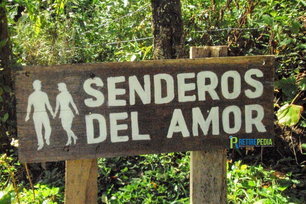 "At the beautiful Cascada Blanca (White Waterfall) reserve, we explore the ""Senderos del Amor."" This ""Lovers' Path"" winds down through lush gardens to a little eco lodge and the waterfalls."