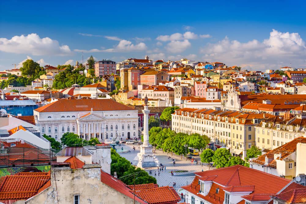 A picture of the city of Lisbon, Portugal