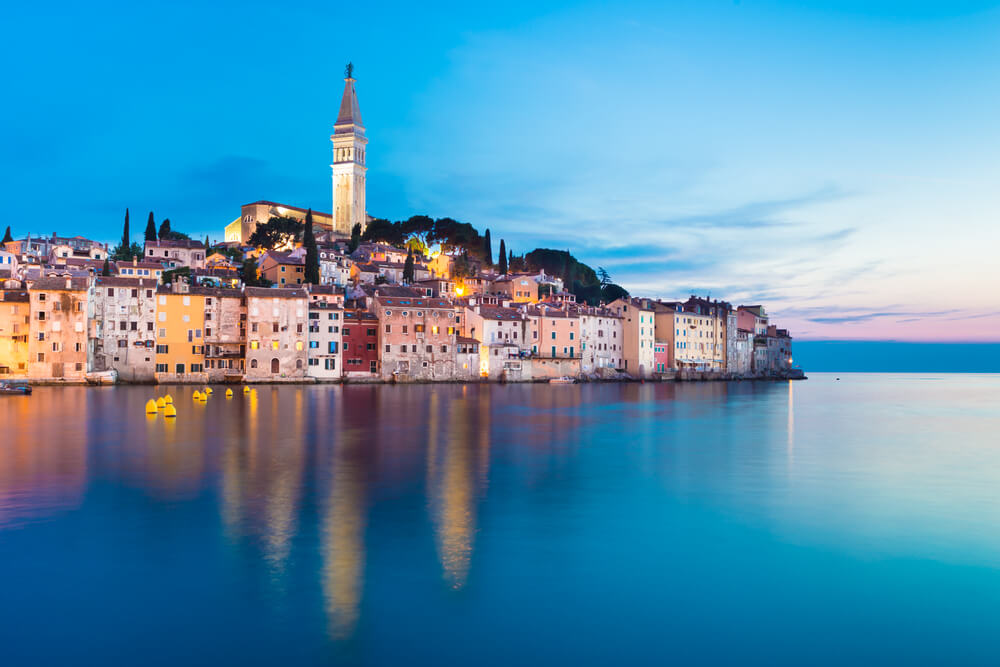 A picture of Istria, Croatia from the water.