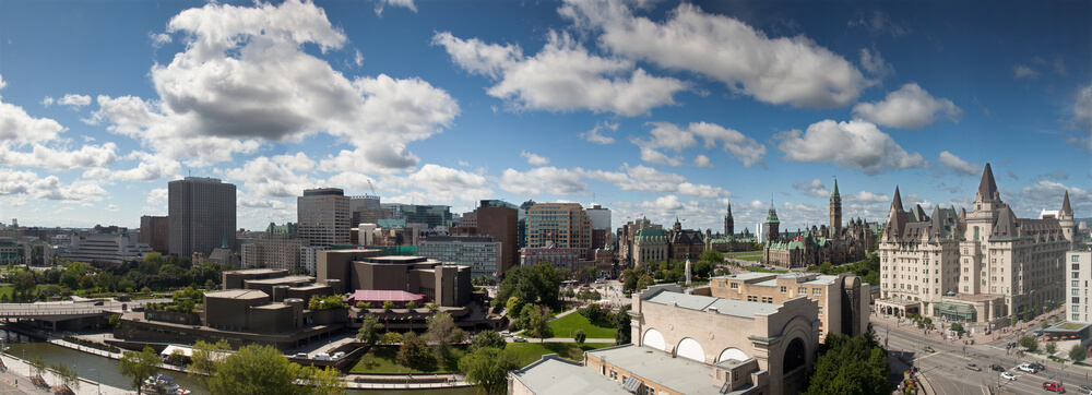 A picture of Ottawa, Canada skyline.