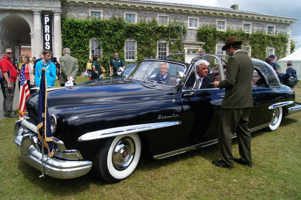 A photo of a 1950 Lincoln Cosmopolitan Limousine, one of the most popular vehicles in 1957